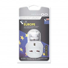 Go Travel Accessories Continental Adaptor Twin Pack