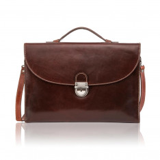 """Bags Jekyll And Hide Oxford 3685OXTO 13"""" Briefcase Tobacco"""