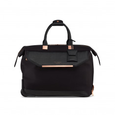 Luggage Ted Baker Albany Collection TBW5006 Cabin Trolley Duffle Black Rose Gold